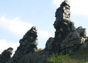 Ein Teil der Teufelsmauer in Sachsen-Anhalt, Harz