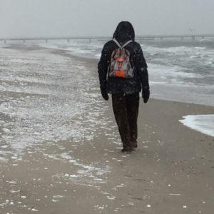 Schnee am Dahmer Strand