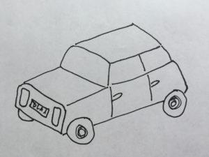 Auto-Zeichnung, ungelenk