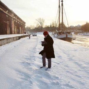 Karla Letterman als Schneebotschafterin