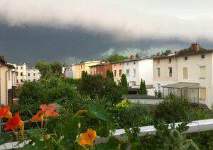 Gewitter, vom Balkon aus gesehen