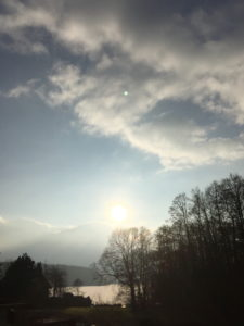 Wattige Wolken am Suhrer See