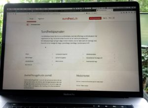 Startseite vom dänischen Gesundheitsportal