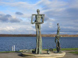 Blau im Hafen von Ribnitz