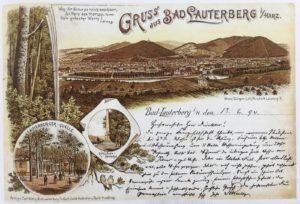 Alte Postkarte aus Bad Lauterberg zum Badejubiläum