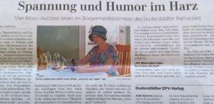 Artikel Lesung aus dem Göttinger Tageblatt