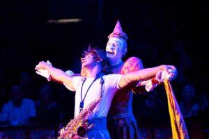 Die beiden Clowns Chistirrin und Genzi im Zirkus Roncalli