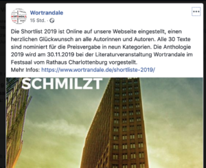 "Facebook-Post von ""Wortrandale"""