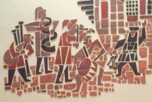 Wandmosaik mit Musikanten
