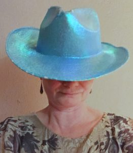 Blau machen - mit Hut
