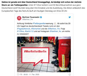 NDR-Bericht über den Tag des Notrufs