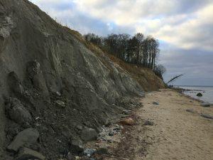 Abgebrochene Steilküste