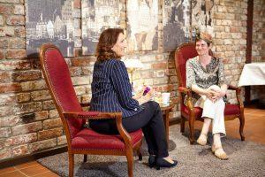 Hilke Flebbe und Karla Letterman beim Interview