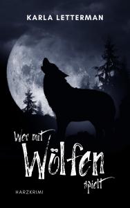 Coverentwurf mit Wolf und Mond