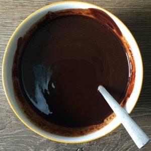 Geschmolzene Zartbitterschokolade
