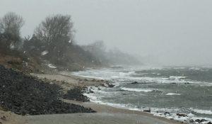 Starker Wind am Strand von Dahme