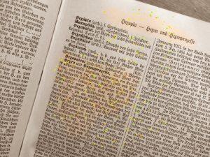 Text über Hexen aus einem alten Lexikon