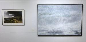 """Zwei Bilder der Ausstellung """"Zwei Künstler - ein Gedanke"""""""