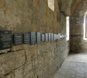 Gedenktafeln in der Burchardi-Kirche Halberstadt