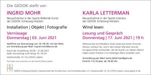 Einladung zur Lesung 'Wind lesen'